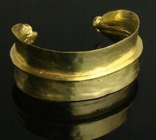 """Fulani brass cuff bracelet. Peul. African (1"""" wide)"""