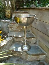 More details for floor standing champagne ice bucket vintage silver wine cooler bar drinks stand