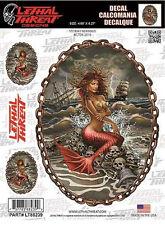 Aufkleber Set Stürmige Meerjungfrau Stormy Mermaid Sticker Airbrush 16x12 cm