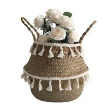 Seagrass Wicker Basket Flower Pot Folding Basket Storage Basket Decoration