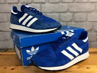 ADIDAS MENS UK 7 EU 40 2/3 FOREST GROVE ROYAL BLUE TRAINERS 80'S CASUALS LG