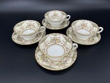 Minton Chatham Tea Cup and Saucer Set of 4 Bone China England