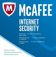 McAfee Internet Security Unlimited / 1 Jahr  Gültig für 2018 (DEUTSCH) / KEY