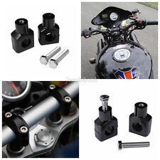 """Aluminum 1"""" Black Handlebar Risers For Harley Dyna Sportster Softail Custom"""