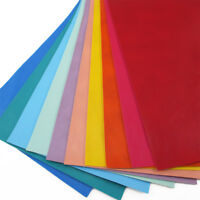 A4 Litchi Color PU Synthetic Leather Fabric Sheets Solid Color Fabric Hair Bows