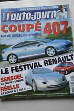 AUTO JOURNAL 648 BMW SERIE 1 FORD FOCUS FLUENCE DACIA LOGAN 407 COUPE A3 C3 2004