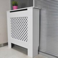Oxford Radiator Cover White Painted / Unpainted MDF Wood Cabinet Grill Furniture