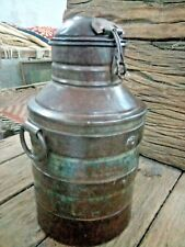 Antique Vintage  Indian Handmade Iron Milk Can Decorative Collectible