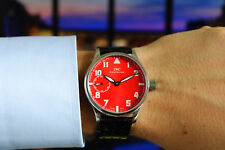 Men's 44mm IWC Pre-Portuguese cal. 73 Red Dial Marriage Pilot Watch from c. 1930
