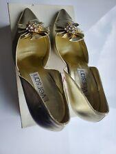 Vintage NIB Versani Gold Pumps Heels 9B