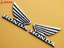 85mm 3D ABS Fuel Tank Badge Fairing Emblem Decal Sticker for Honda Wing L/R