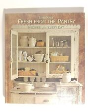 Longaberger Cookbook Fresh From Pantry Every Day Recipes Hard Cover New Sealed