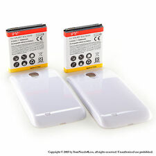 2 x 5600mAh Extended Battery for Samsung Galaxy S 4 IV i9500 White Cover