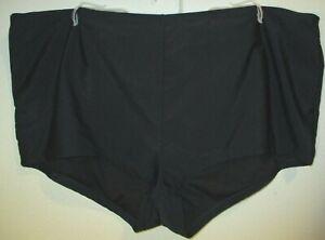 Catalina Black High Waist High Cut Swim Brief Plus Size 3X 24W-26W NWOT