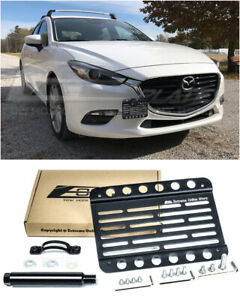 EOS Plate For 2017-2018 Mazda 3 Front Bumper Tow Hook License Mount Bracket