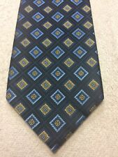 BELLINI MENS TIE BLACK WITH BLUES AND GOLD 4 X 57 NWOT