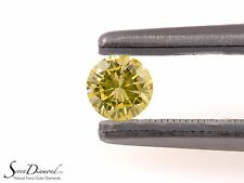 Fancy Light Greenish Yellow Natural Color 0.30 ct Loose Diamond GIA certificate