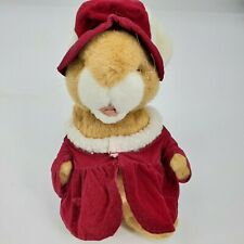 Ganz Heritage Collection Bunny Plush Doll Red Velvet Dress VIntage Collectible