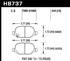 Performance Ceramic Disc Brake Pad fits 2013-2015 Fiat 500  HAWK PERFORMANCE