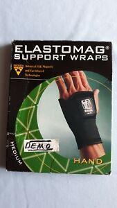 NIKKEN Elastomag HAND Magnetic Wrap MEDIUM with EQL-FIR NEW IN BOX - DEMO