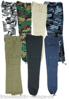KIDS COMBAT TROUSERS CHILDRENS ARMY CLOTHING UNIFORM CADET CAMOUFLAGE US CARGOS
