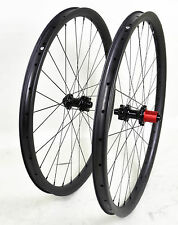 "27.5"" Carbon MTB Wheel QR 35mm Clincher Beadless Thru Axle UD Matt Rims Mountain"