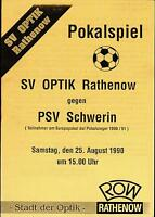 DFV-Pokal 90/91 SV Optik Rathenow - PSV Schwerin, 25.08.1990