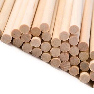 """100 Round Wooden Lolly Lollipop Sticks Craft Plant Cane 89mm x 4mm 3.5"""" Inch"""