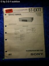 Sony Service Manual ST EX77 FM/AM Timer Tuner (#4356)