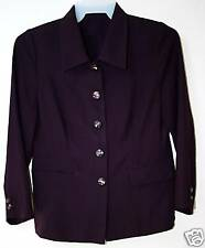 PURPLE Coat Dress Top Shirt Career Office Button Up Basic Jacket Blazer Woman M