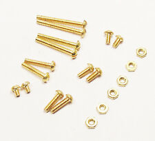 New Turntable Audio Brass Headshell Mounting Screw Nut Set Hardware Assortment