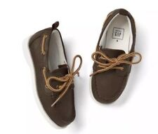 NWT Gap Toddler Boy Brown Faux Leather Slip-On Boat Shoes Sneakers Size US 5