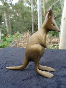 Antique Art Deco Vintage Brass Australian Kangaroo Statue Figurine