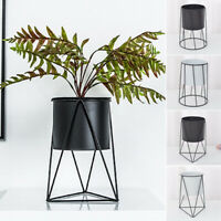 Flower Pot -Geometric Metal Rack Indoor Outdoor Plant Display Holder Stand Decor
