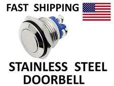 CUSTOM polished Stainless DOORBELL door bell UNIVERSAL switch - LOW Profile new