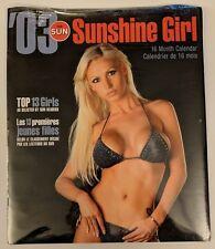 Sun Sunshine Girl Calendar 2003 03 Pin Up Bikini Top 13 Toronto Newspaper Month