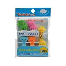 CuteZCute Bento Food Picks, 10-Piece Giraffe,Dog,Cat,Bear,Monkey (Color vary)