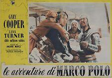 """""""LES AVENTURES DE MARCO POLO"""" Affiche italienne originale entoilée (Gary COOPER)"""