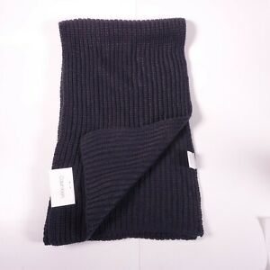 Calvin Klein Men's Chunky Wave Scarf S14311 Navy $55 MSRP 70x10