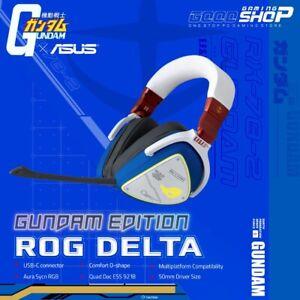 Original ASUS ROG Delta Gundam Edition Gaming Headset ESS RGB 🔥Ships ASAP!  USA