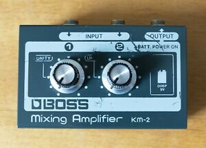 Boss KM-2 Mixing Amplifier - Micro Mixer from late 1970s. KM2