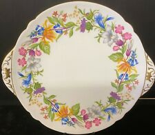 Shelley Spring Bouquet Cake Plate