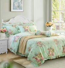 SHABBY CHIC FLORAL 3 PCE DUVET CALIFORNIA KING Hydrangea Floral rose BEDDING New