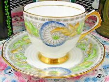 TUSCAN ART DECO STYLE FLORAL DESIGNS TEA CUP AND SAUCER TEACUP