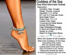 Turquoise Ocean Anklet - Free Ship Goddess Of The Sea Mermaid Ankle Bracelet