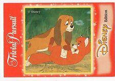 WALT DISNEY Trivial Pursuit FIGURINE CARTA IL FOX E THE HOUND Todd E IN RAME