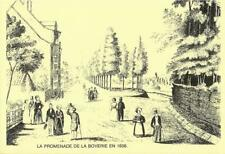 Liége -- La promenade de la Boverie en 1836. (Dessin) ( 2 scans )