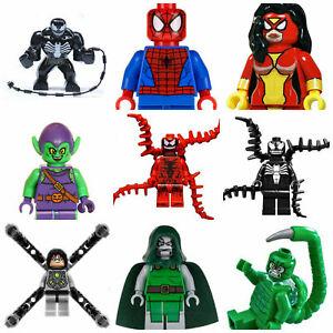 Spiderman Venom Carnage Mysterio Deadpool Marvel Super Hero Goblin Mini Figures