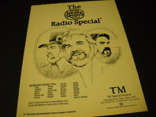 Kenny Rogers The Radio Special 1980 Promo Poster Ad mint condition