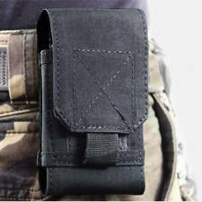 Man's Waist package Pouch Belt Holster Black canvas Bag Case Cover For Phones
